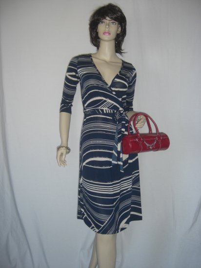 New Metallic Faux Wrap Dress & Anthropologie Top Size M Medium