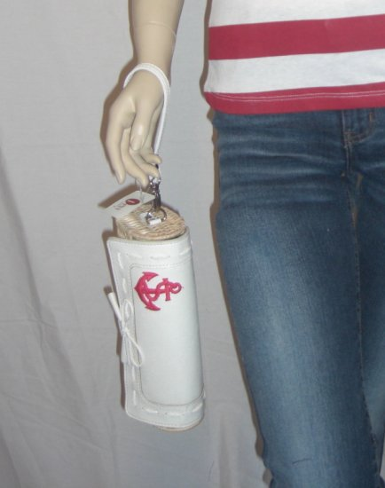 DIY Nautical Wicker Sailor Anchor Patch Clutch Wristlet Bag