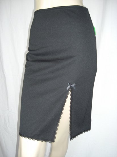 NWT Sexy Front Slit Lace Trim Slim Pencil Skirt S SML