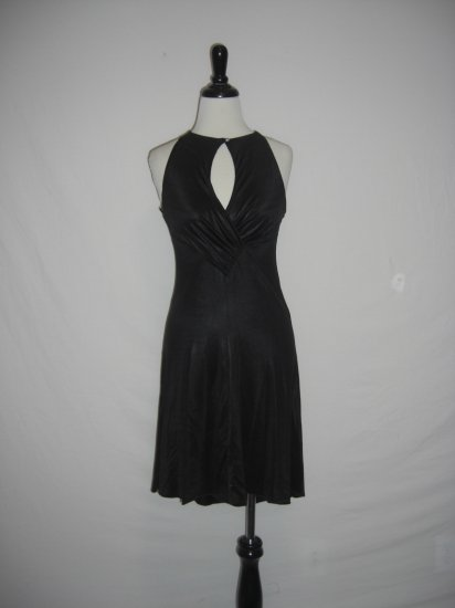 NWT Arden B Keyhole Asymm Black Cocktail Dress L $118