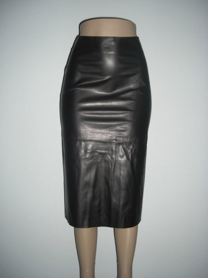 "NWT vlv Sexy Rockabilly Vegan ""Leather"" Pencil Skirt M"