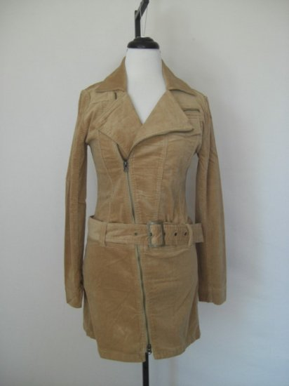 NWT New Renee C Belted Asymmetrical Corduroy Jacket S Small
