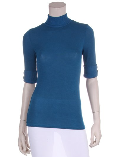 NWT New Forever 21 Turtleneck 3/4 sleeve top L Large