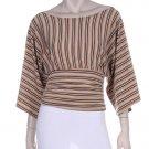 NEW Boutique Metallic Kimono Kabuki Boho Chic Top M Medium $69