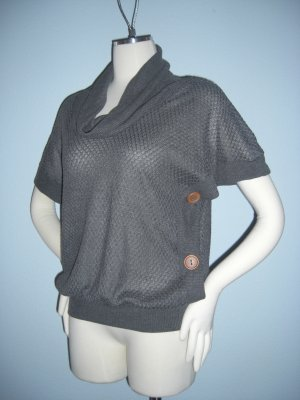 New Threads Button down side Open Dolman Sleeve Top S Small