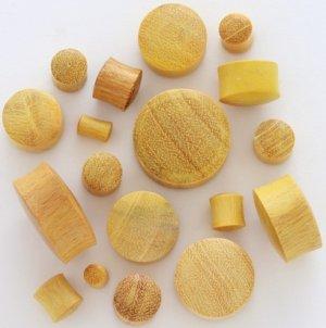 Golden JackFruit Wood Saddle Plugs