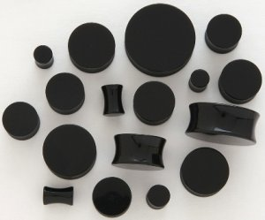 BLACK ACRYLIC SADDLE PLUGS