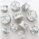 WHITE HOWLITE STONE SADDLE PLUGS