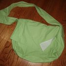 024. handmade lime messenger bag
