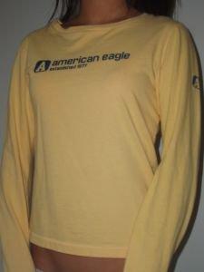 049. nwot american eagle yellow longsleeve