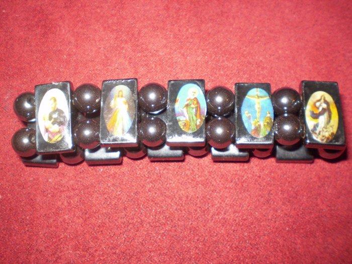 Magnetic Hematite Saint Bracelet