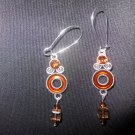 Brown Drop Earrings with Swarovski Crystals