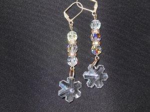 Swarovski Crystals Snowflake Earrings