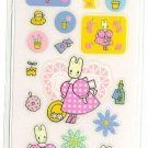 RARE SANRIO HELLO KITTY-MARRON CREAM COLORFUL STICKER