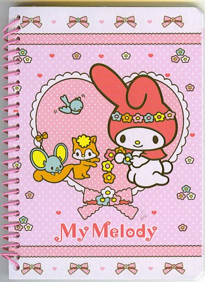 MY MELODY SANRIO 2008 SPIRAL MEMO NOTEPAD NEW