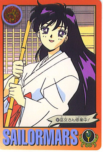 SAILOR MOON -REI WITH BAMBOO STICK- GRAFFITI 5 CARD #187