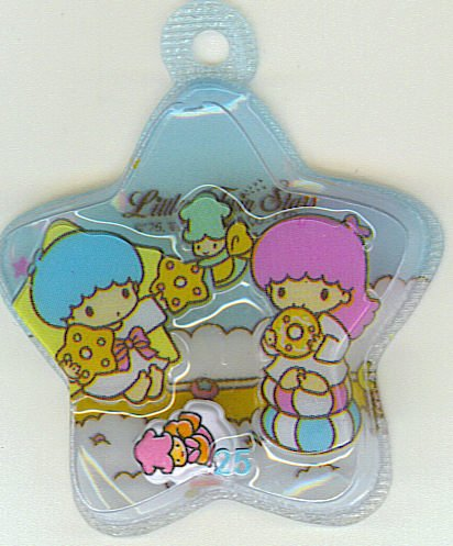 SANRIO LITTLE TWIN STARS 2 IN 1 BLUE STAR SHAPE #25