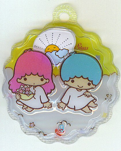 SANRIO LITTLE TWIN STARS 2 IN 1 YELLOW ROUND WAVE SHAPE #9