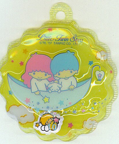 SANRIO LITTLE TWIN STARS 2 IN 1 FULL YELLOW ROUND WAVE SHAPE #10
