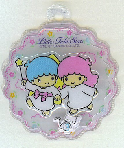 SANRIO LITTLE TWIN STARS 2 IN 1 FULL WHITE ROUND WAVE SHAPE #3
