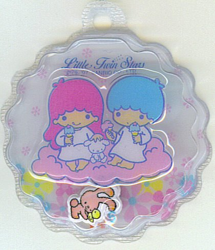 SANRIO LITTLE TWIN STARS 2 IN 1 FULL WHITE ROUND WAVE SHAPE #6