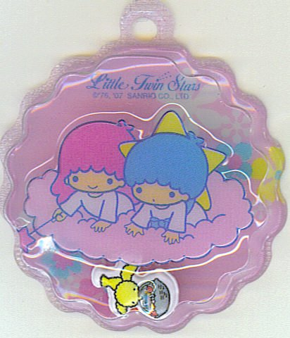 SANRIO LITTLE TWIN STARS 2 IN 1 FULL PINK ROUND WAVE SHAPE #1