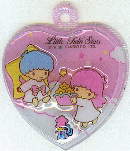 SANRIO LITTLE TWIN STARS 2 IN 1 PINK HEART SHAPE #18