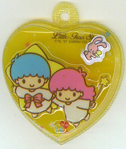SANRIO LITTLE TWIN STARS 2 IN 1 FULL  LIGHT ORANGE HEART SHAPE #14