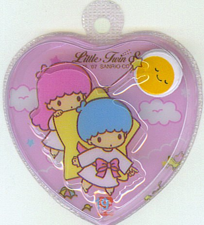 SANRIO LITTLE TWIN STARS 2 IN 1 FULL PINK HEART SHAPE #19