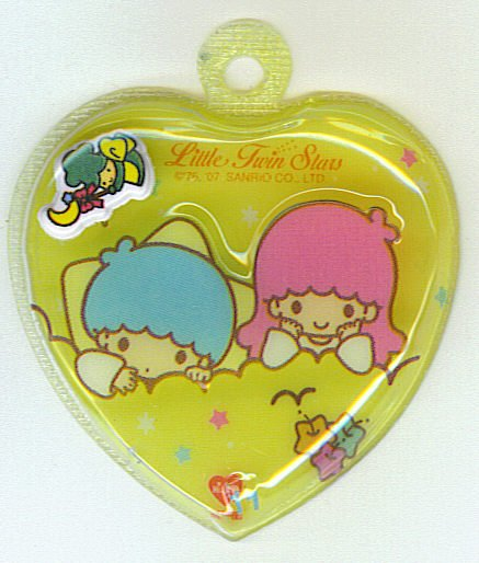 SANRIO LITTLE TWIN STARS 2 IN 1 FULL YELLOW HEART SHAPE #11