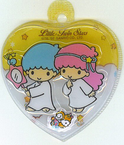 SANRIO LITTLE TWIN STARS 2 IN 1 LIGHT ORANGE HEART SHAPE #12