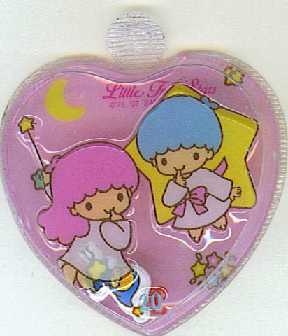 SANRIO LITTLE TWIN STARS 2 IN 1 FULL PINK HEART SHAPE #20