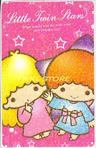 SANRIO LITTLE TWIN STARS PRISMATIC STICKER CARD COLLECTION -GREETINGS-