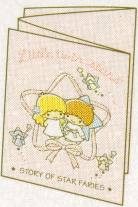 SANRIO LITTLE TWIN STARS MEMO SMALL FOLDING CARD