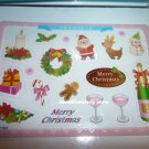 JAPAN SCRAPBOOKING CRAFT ART CHRISTMAS PARTY CLEAR STICKER PLASTIC CARD C 150