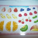 JAPAN SCRAPBOOKING CRAFT ART FRUITS CLEAR STICKER PLASTIC CARD C 146