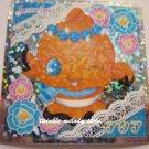 KAWAII JAPAN SANRIO SEGA JEWEL PET PRISM SILVER STICKER SEAL CARD #23 ORANGE GOLD FISH
