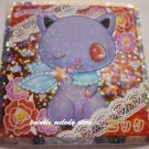 KAWAII JAPAN SANRIO SEGA JEWEL PET PRISM SILVER STICKER SEAL CARD #28 PURPLE CAT KITTEN