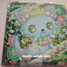 KAWAII JAPAN SANRIO SEGA JEWEL PET PRISM SILVER STICKER SEAL CARD #10 BLUE CAT KITTEN