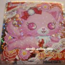 KAWAII JAPAN SANRIO SEGA JEWEL PET PRISM SILVER STICKER SEAL CARD #3 PINK CAT KITTEN