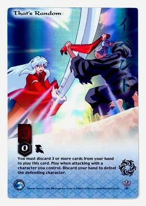 That's Random    CARD #101  INUYASHA TCG JAKI  RARE PRISM FOIL CARD  GAME