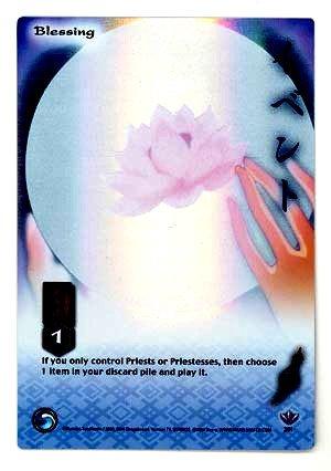 Blessing     CARD #201  INUYASHA TCG TETSUSAIGA  RARE PRISM FOIL CARD GAME