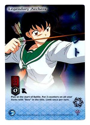 Legendary Archers    CARD #99  INUYASHA TCG JAKI  RARE PRISM FOIL CARD  GAME