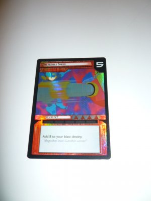 MEGAMAN GAME CARD MEGA MAN SPECIAL PROMO PRISM FOIL  1SR105 INCREDIBLE SPEED