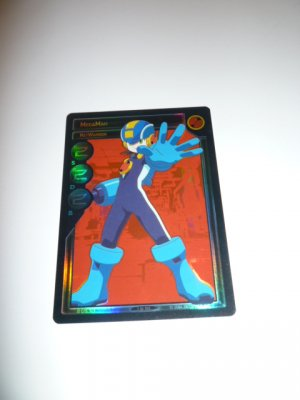 MEGAMAN GAME CARD MEGA MAN SPECIAL PROMO PRISM FOIL  1ST101 NET WARRIOR