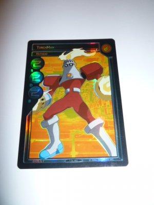 MEGAMAN GAME CARD MEGA MAN SPECIAL PROMO PRISM FOIL  1ST102 TORCH MAN HOT HEAD