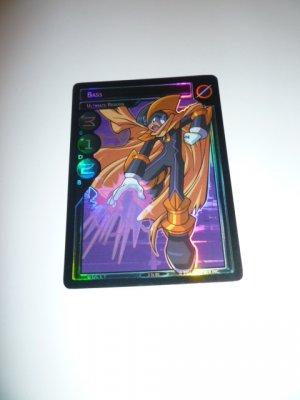 MEGAMAN GAME CARD MEGA MAN SPECIAL PROMO PRISM FOIL  3ST80 BASS ULTIMATE REBORN