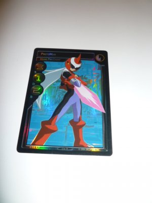 MEGAMAN GAME CARD MEGA MAN SPECIAL PROMO PRISM FOIL  2ST79 PROTO MAN GRAND PRIX CHAMP