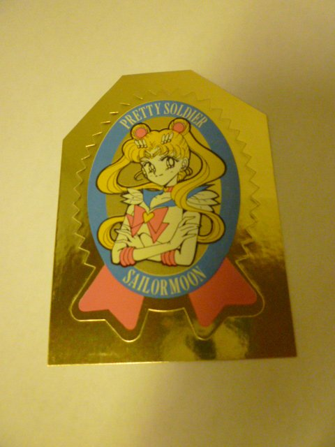 SAILOR MOON  MANGA RARE SAILORMOON STICKER GOLD SEAL
