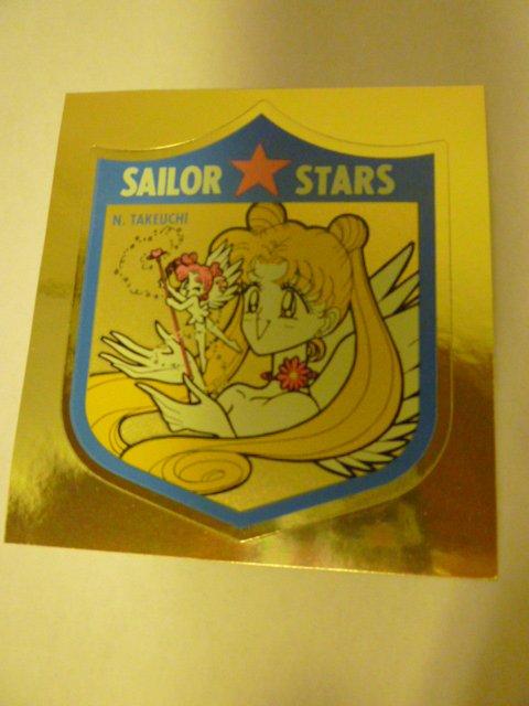 SAILOR MOON  MANGA RARE SAILORMOON STICKER GOLD SEAL  WITH CHIBI CHIBI